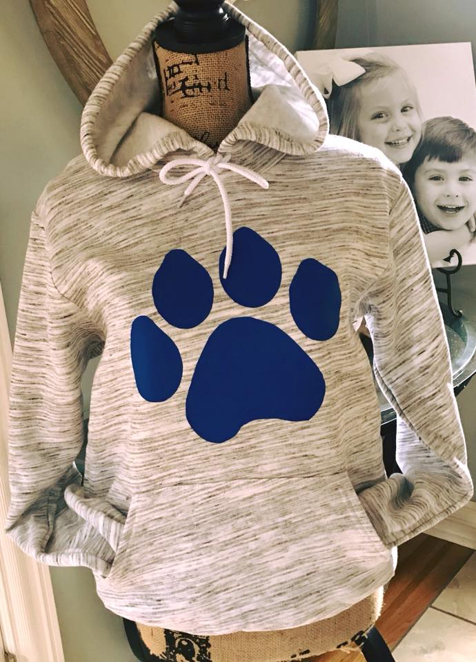 Marble Fleece Hoodie With K or Paw