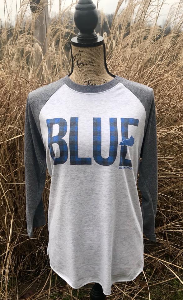 BLUE Unisex tri-blend Raglan