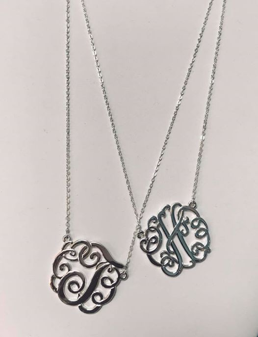 """16"""" Silver Plated Initial Necklace"""