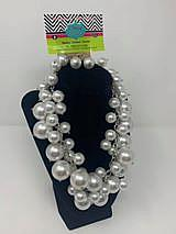 Multi Strand Pearls with silver plated chain