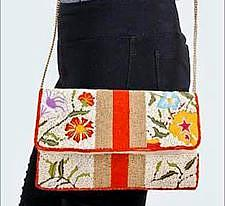 Floral Beaded Crossbody