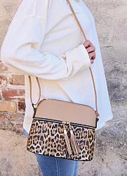 Dana Crossbody with Leopard