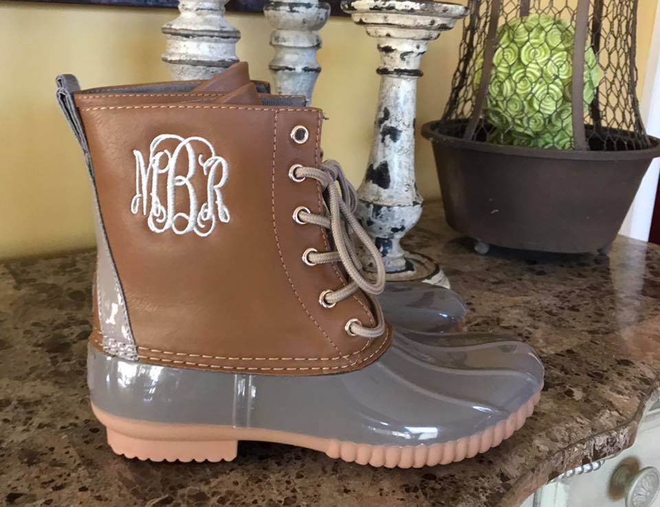 Taupe/Gray Duck Boots